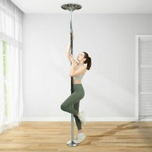SAMAX Barra de Baile Profesional Pole Dance de 45 mm 2,74 m Estática y Giratoria