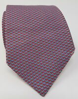 Cravatta hermes paris 100% pura seta tie made in italy original rosso red tema