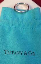 Tiffany&Co Platinum PT950 Ring/Band 4 GR 3 Mm Wide Sz 6,5