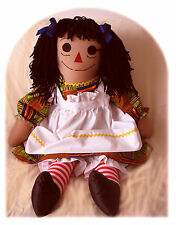 COLLECTOR EDITION MULTIRACIAL RAGGEDY ANN DOLL 3 FT. TALL WITH 3 PC. OUTFIT