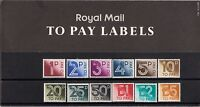 GB 1982 Royal Mail To Pay Labels Postage Due Presentation Pack 135