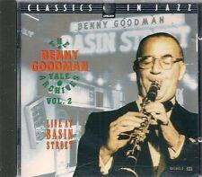 CD COMPIL 15 TITRES--BENNY GOODMAN VOL 2--LIVE AT BASIN STREET