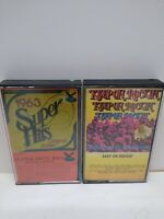 Vintage Rock Cassette Tape Lot of 2 Tapes super hits of 63 keep on rockin