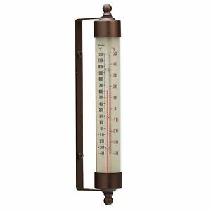 """Taylor Precious Spirit-Filled Metal Vintage Outdoor Thermometer 7.5"""" Waterp..."