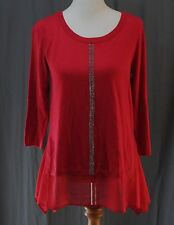 Worthington, Small, Cherry Cordial Chiffon Trim Sweater, New with Tags