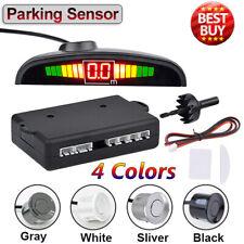 4 Sensors Car Reverse Parking Sensor Audio Buzzer Alarm Kit LCD Display 4Color