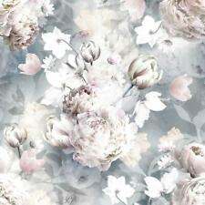 Lipsy London Printemps Fleurs Muriva Papier Peint Floral Paillettes Rose Bleu Sarcelle Papillon