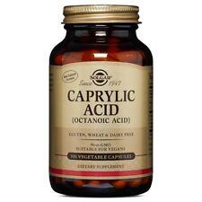 Solgar Caprylic Acid 100 Vegetable Capsules FREE Shipping Made in USA FRESH