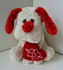"CUTE 7"" VALENTINE HEART LOVE DOG STUFFED ANIMAL TOY"
