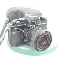 Praktica BC1 Electronic 35mm Film Camera, Pentacon Prakticar 28mm Lens +Case#698