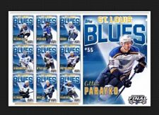 10 CARD SET-ALLEGIANCE BASE-ST LOUIS BLUES-STANLEY CUP-TOPPS SKATE 19 DIGITL