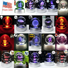 Crystal Night Light Lamp #okemon 3D LED Table Desk Crafts Brithday Decor Gift US