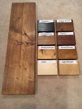 RUSTIC Waxed Scaffold Boards - Rustic Shelves - 17 SIZES - Industrial wood shelf