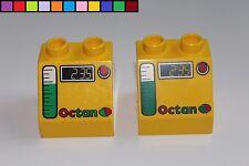 Lego Duplo - 2x Tankstelle - Octan - Cars - gelb - Baustein - Motivstein