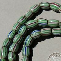27.5 inch strand old antique venetian 3 layer fancy beads african trade #1768