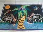 """Antique Appliqué Art Hand Woven Textile Wall Hanging Tapestry size 64""""×41"""" good"""