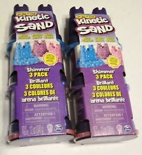 Kinetic Sand 2 - Shimmer 3 Packs - 6 in All - 3 Different Colors - 24 Oz New!