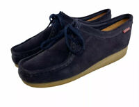 Clarks Collection Navy blue Suede Wallabee Low Shoes Women's Size Us 10 M