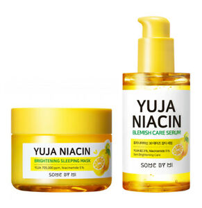 [SOME BY MI] Yuja Niacin Brightening Sleeping Pack / Blemish Care Serum-60g/50ml