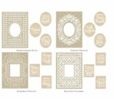 New listing Anna Griffin Embroidered Frames Embossing Folder Mix & Match Cuttlebug Sentiment