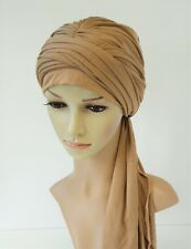Women turban hat, bad hair day scarf, turban with long ends, head snood
