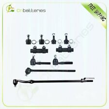 10Pieces Steering Kit Ball Joints Tie Rod Ends Kit For 87-1995 1996 Ford Bronco