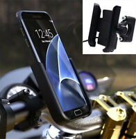 Aluminium Alloy Phone Holder w/ 2A LED USB Quick Charger Bracket For Motorcycle
