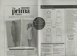 Prima frilly  dress 2 versions Sewing Pattern Sizes 10-20 uncut August  2021