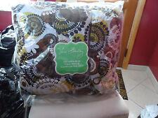 Vera Bradley Cocoa Moss Twin Comforter and pillow sham set