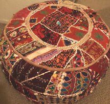 Genuine Handmade Moroccan Pouf Poof Ottoman Footstool Footrest Coaster Furniture