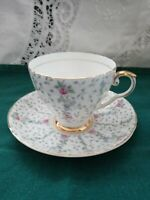 "Vintg A.B.J.CUP & SAUCER ROYAL GRAFTON CHINA, MADE IN ENGLAND ""CHANTILLY""."