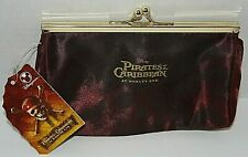 Disney Pirates of the Caribbean World's End Skull Clutch Women's Wallet NEW