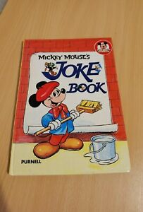 Rare Mickey Mouse's Joke Book 1977 Purnell Hard Backed Very Good Condition