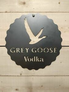 Grey Goose Vodka Metal Sign Hand Finished Retro Man Cave High Quality beer bar