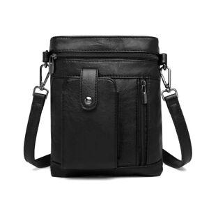 Men's Faux Leather Handbag Unisex Multi Compartment CrossBody Shoulder Bag
