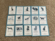 Franklin Mint Curio Cabinet Cats Collection Cert Of Authenticity & Booklets Only