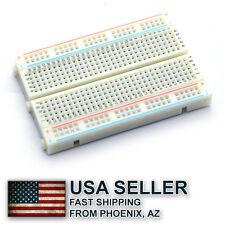 2 x Mini breadboard 400 holes with 4 power rails for Arduino - Ship from AZ, USA