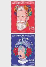 DELIGHTFUL CHRISTMAS FIGURES LUXEMBOURG 2018 SET MNH