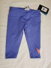 Little Girls Nike Dri Fit chalk blue Leggings Pants Swoosh Logo Size 4 MSRP $30