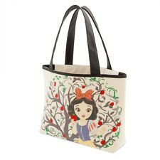 DISNEY STORE ART OF SNOW WHITE TOTE SHOPPING BAG BNWT APPLE DWARFS HAG LIMITED