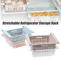 Slide Kitchen Fridge Freezer Space Adjustable Refrigerator Storage Save