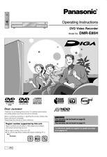 Panasonic DMR-E85H DVD Recorder Owners Instruction Manual