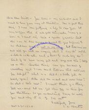 Edgar Lee Masters handwritten letter re buying Christmas gifts for children 1920