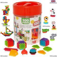 Cacto Cubes Blocks Sensory Interlocking Construction and Building Toy 100 Pieces