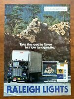 1980 Raleigh Lights Cigarettes Vintage Print Ad/Poster Truck Pop Art Decor