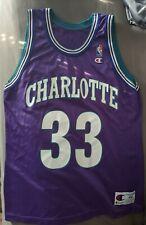 Vintage ALONZO MOURNING Charlotte Hornets # 33 Champion Jersey Size 44