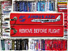Keyring AIRBUS A321 in red Remove Before Flight keychain for pilot crew