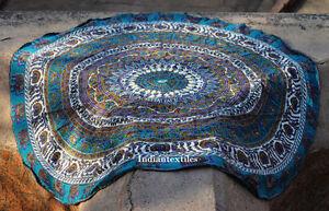 """Indian Hippie Mandala 72"""" Round Beach Rug Bohemian Tapestry Roundie Yoga Mat"""