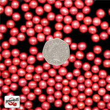 6mm Red Sugar Balls Shimmer Pearls Natural Cake Decorations Edible Toppers