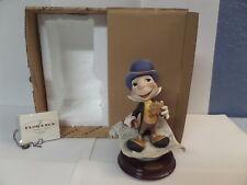"Disney Jiminy Cricket Giuseppe Armani SIGNED Figurine Italy 0379-C 9"" tall  COA"